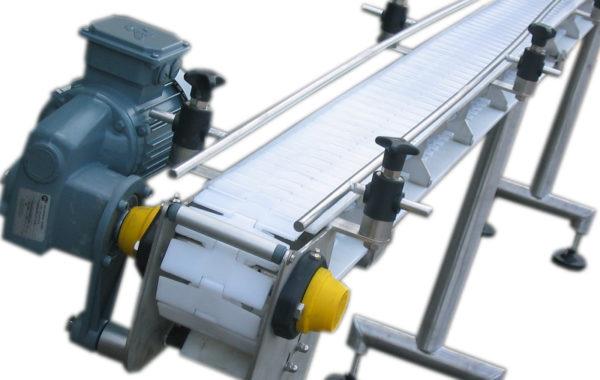 Apullma Superclean Fördertechnik für Scharnierplattenbänder