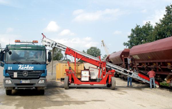 Apullma-Förderbandwagen-Waggonentladung